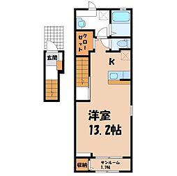 中戸祭町アパート(025569901) 2階1Kの間取り