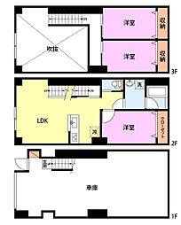 JR上越新幹線 長岡駅 3.5kmの賃貸マンション 1階3LDKの間取り