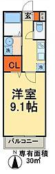 成田スカイアクセス 新鎌ヶ谷駅 徒歩8分の賃貸マンション 3階1Kの間取り