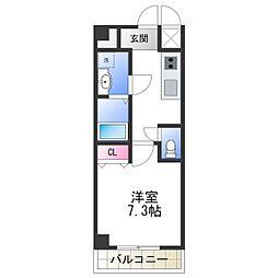 Osaka Metro御堂筋線 動物園前駅 徒歩7分の賃貸マンション 2階1Kの間取り