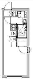 東急池上線 戸越銀座駅 徒歩4分の賃貸マンション 3階ワンルームの間取り