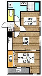 公海中野マンション[103号室]の間取り