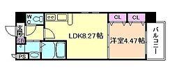 アーバネックス梅田東[4階]の間取り