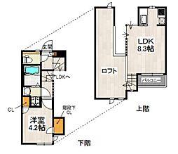 CB箱崎ルアーナ[102号室]の間取り