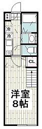 仮)ハーミットクラブハウス桜山B棟 2階1Kの間取り