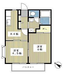 サンガーデン斉藤A棟[101号室]の間取り