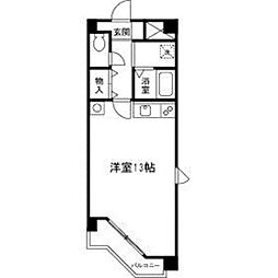 ブルーメンハウス4階Fの間取り画像