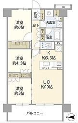 プレシス杉並和田グランテラス 5階3LDKの間取り