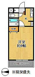柳田ハイツ第3[306号室]の間取り