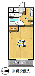 田ハイツ第3[306号室]の間取り