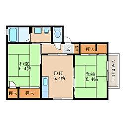 メゾンドオリーヴB棟[2階]の間取り