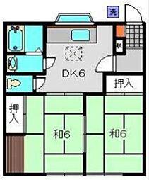 メゾン田中[102号室]の間取り