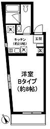 マイソンデ駒沢[402号室]の間取り