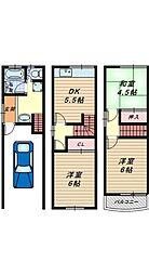 [一戸建] 大阪府堺市堺区東雲西町4丁 の賃貸【/】の間取り
