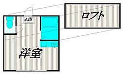 東京都三鷹市新川4丁目の賃貸アパートの間取り