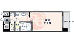 近鉄南大阪線 河堀口駅 徒歩7分の賃貸マンション 2階1Kの間取り