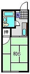 シティハイム中田A[2階]の間取り