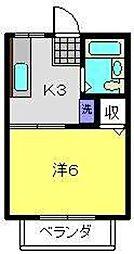 神奈川県横浜市港南区港南2丁目の賃貸アパートの間取り