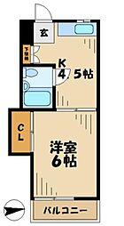 小島ハイツ1号[1階]の間取り
