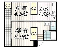 ハイツ松籟[1階]の間取り