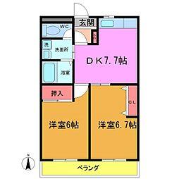 笹塚マンション[203号室]の間取り