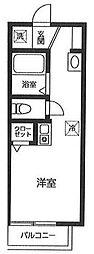 京王線 千歳烏山駅 徒歩10分の賃貸アパート 3階ワンルームの間取り