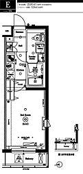 アークマーク中野鷺宮 2階1Kの間取り