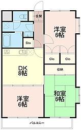 ひかりマンション[3階]の間取り