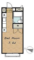 神奈川県相模原市緑区相原2の賃貸アパートの間取り