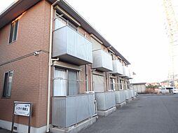 栃木県小山市東城南3丁目の賃貸アパートの外観
