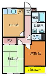 千葉県流山市向小金3丁目の賃貸アパートの間取り