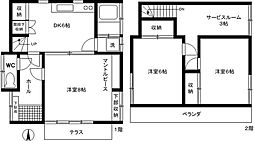 [一戸建] 東京都小金井市貫井南町4丁目 の賃貸【/】の間取り