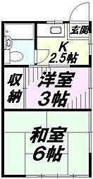 埼玉県所沢市小手指南2丁目の賃貸アパートの間取り