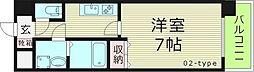 フォレストガーデン今福鶴見IV 13階1Kの間取り