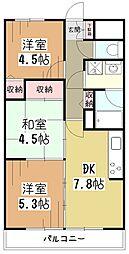 ライオンズマンション小平栄町[2階]の間取り
