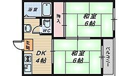 ハイツ山本[3階]の間取り