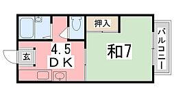 カーサT[203号室]の間取り