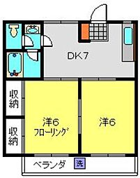 神奈川県横浜市南区永田山王台の賃貸マンションの間取り