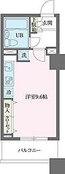 JR京浜東北・根岸線 横浜駅 徒歩4分の賃貸マンション 9階ワンルームの間取り