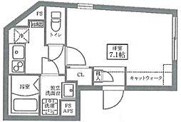 COCOCUBE Oizumigakuen 4階1Kの間取り
