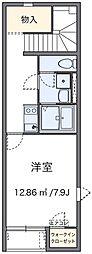 愛知県岡崎市上和田町字南屋敷の賃貸アパートの間取り