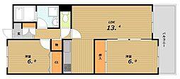 板宿パークホームズ[14階]の間取り