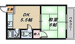 大阪府堺市西区浜寺石津町東5丁の賃貸マンションの間取り