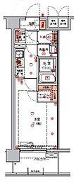 ハーモニーレジデンス東京アーバンスクエア#002 3階1Kの間取り
