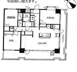 神奈川県横浜市南区平楽の賃貸マンションの間取り