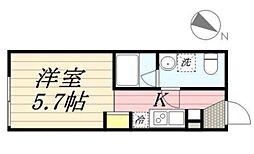 PASEO代田橋 1階1Kの間取り