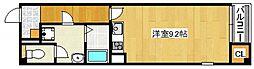 ミ・アトーレ 2階ワンルームの間取り