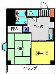 神奈川県横浜市港南区最戸1丁目の賃貸マンションの間取り