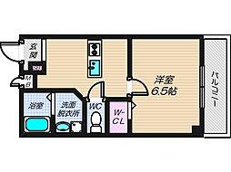 大阪府大阪市住吉区山之内1の賃貸マンションの間取り