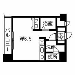ベイサージュ祇園[605号室]の間取り